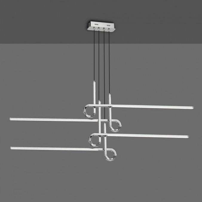 Lámpara techo suspensión LED 42W CINTO cromo