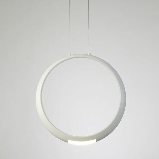 Lámpara de techo LED serie RING aluminio blanco