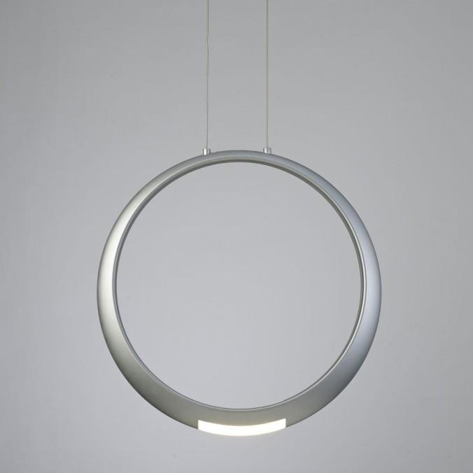 Lámpara de techo LED serie RING aluminio plata