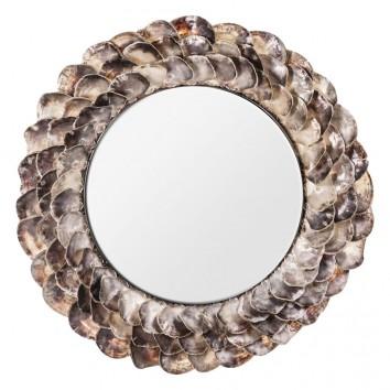 Espejo INGA marco conchas  - 125x12x125h