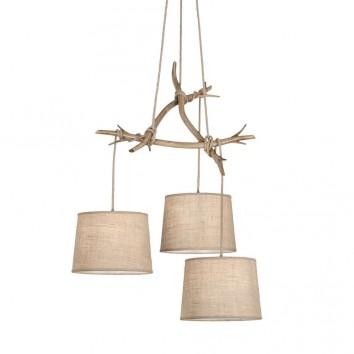 Lámpara de techo 3 luces serie Sabina