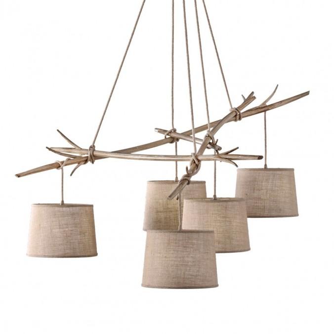 Lámpara de techo 5 luces serie Sabina