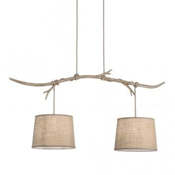 Lámpara de techo 2 luces serie Sabina