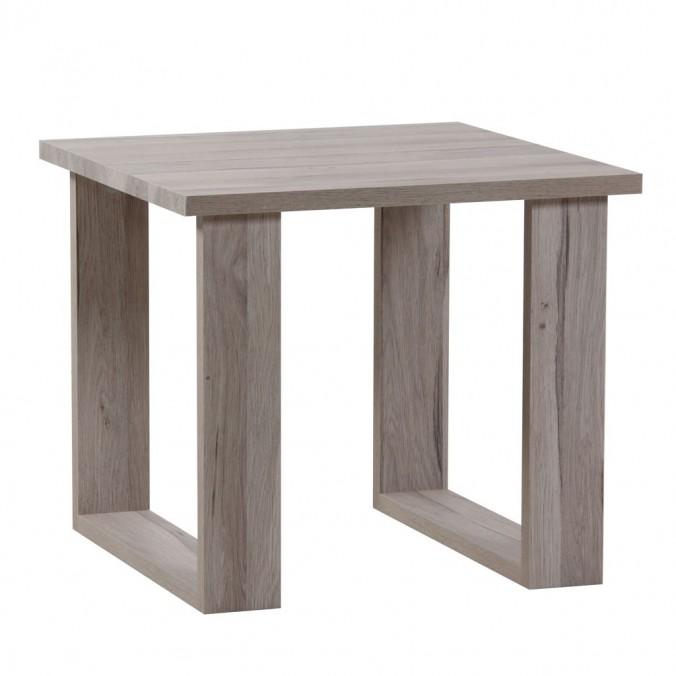 mesa baja estilo nordico roble blanco 60cm