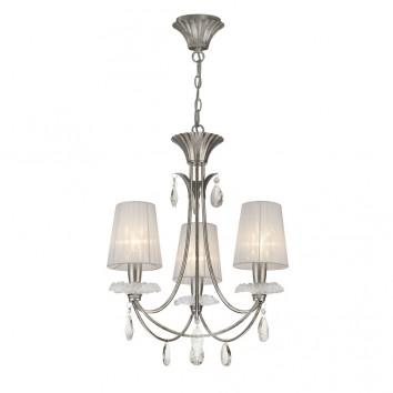 Lámpara de techo estilo clásico SOPHIE plata 3 luces