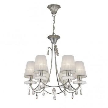 Lámpara de techo estilo clásico SOPHIE plata 6 luces