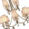 Lámpara de techo estilo clásico SOPHIE dorado 12 luces