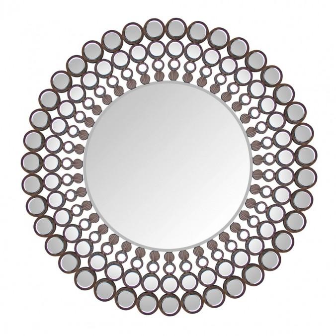 Espejo redondo 120cm con marco de metal