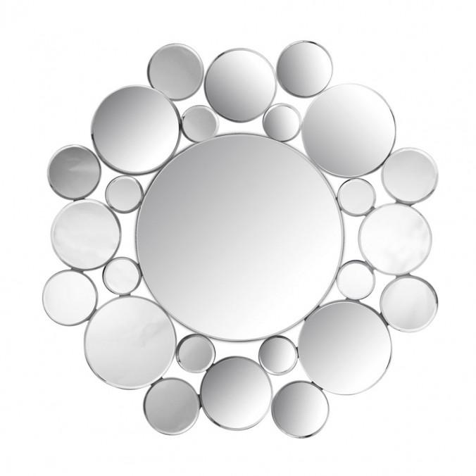 Espejo 80cm con marco de espejitos redondos