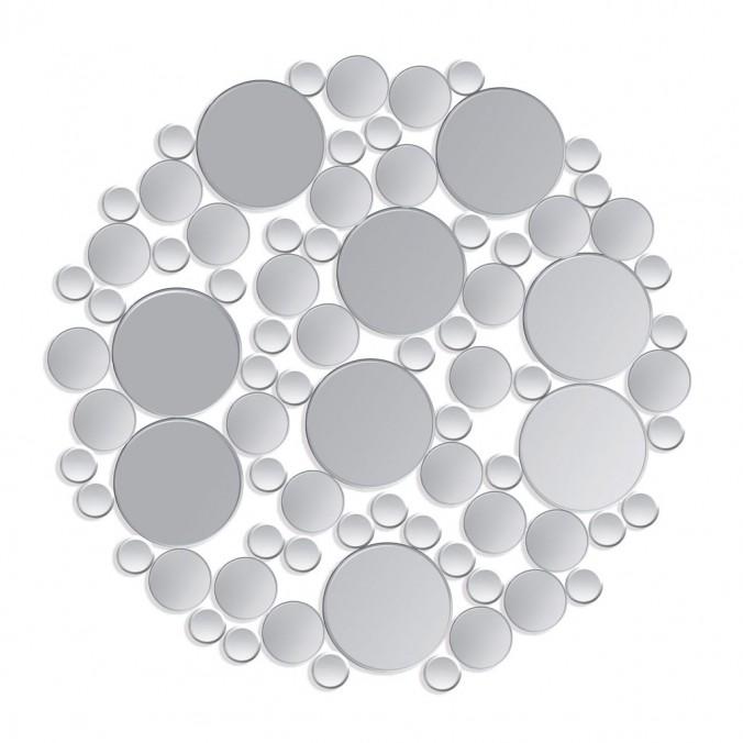 Espejo redondo 98cm formado por pequeños cristales