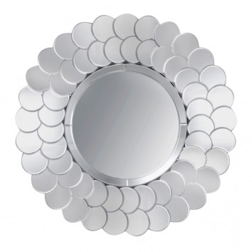 Espejo redondo 90cm marco espejos apilados