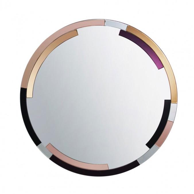 Espejo redondo 100cm marco multicolor
