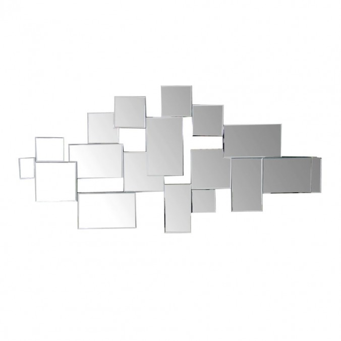 Composición de espejos cuadrados 70x140cm