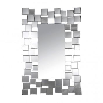 Espejo diseño rectangular 61x90cm marco cuadrado