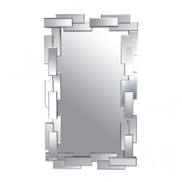 Espejo de pared diseño 71x119cm marco rectángulos