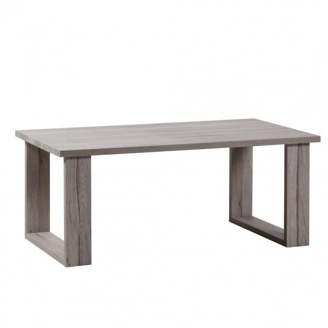 Mesa de centro estilo nordico roble blanco 110cm