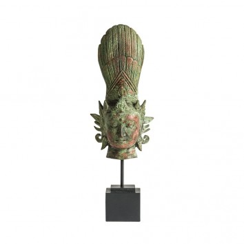 Figura oriental en metal - 14x10x38h