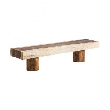 Banco estilo étnico de madera tropical - 200x45x47h