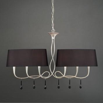 Lámpara lineal PAOLA plata 6 luces