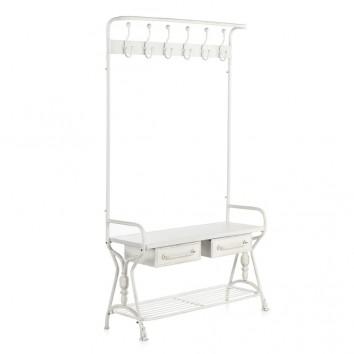 Mueble perchero con cajones estilo industrial 104x39x184h