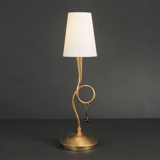 lampara de mesa estilo romantico paola