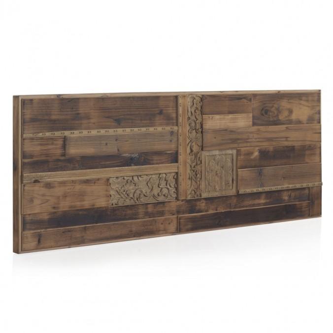 Cabezal madera reciclada estilo étnico 165x60cm