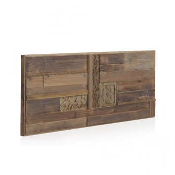 Cabezal madera reciclada estilo étnico 145x60cm