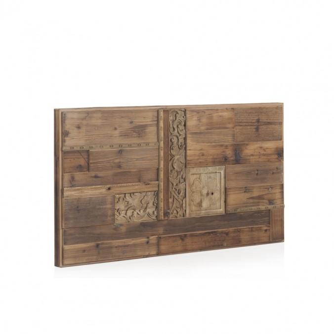 Cabezal madera reciclada estilo étnico 110x60cm
