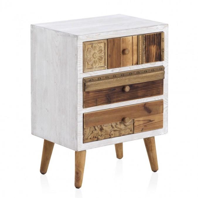 Mesilla 3 cajones 48x36x65h madera reciclada