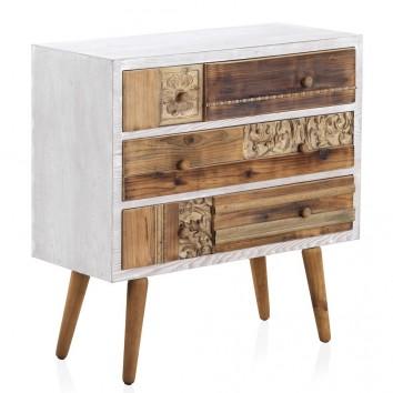 Cómoda estilo étnico 80x36x81h madera reciclada