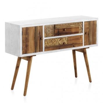Consola estilo étnico 120x36x85h madera reciclada