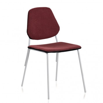 Pack 4 sillas de estilo contemporaneo rojo