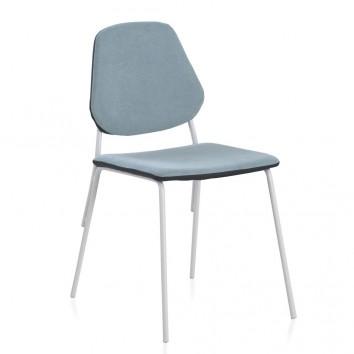 Pack 4 sillas de estilo contemporaneo azul