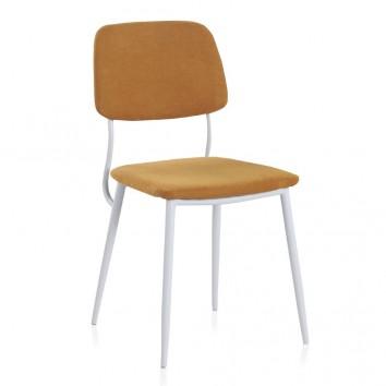 Pack 4 sillas de estilo contemporaneo naranja
