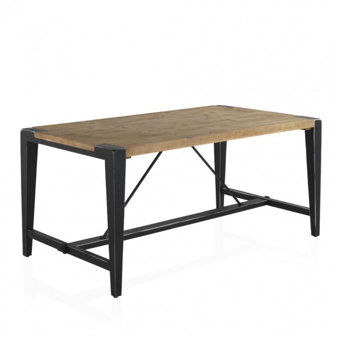 Mesa de comedor estilo industrial 160x90x75h en abeto erizho for Mesa de comedor de estilo industrial