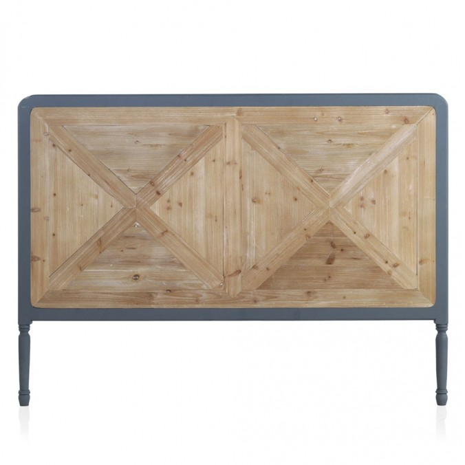 Cabezal estilo industrial madera abeto 165x120h