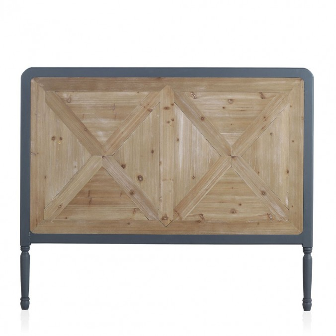 Cabezal estilo industrial madera abeto 145x120h