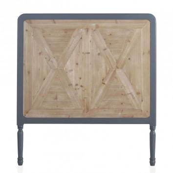 Cabezal estilo industrial madera abeto 110x120h