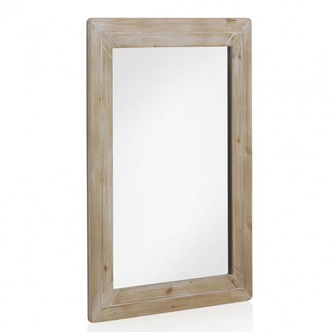 Espejo 60x80cm con marco de madera de abeto