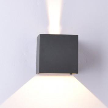 Aplique pared exterior LED serie Davos gris