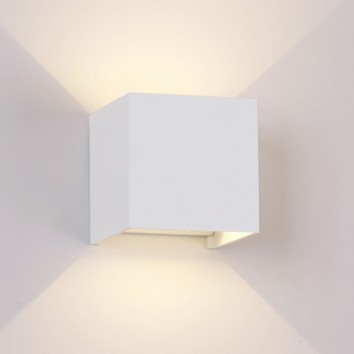 Aplique pared exterior LED serie Davos blanco