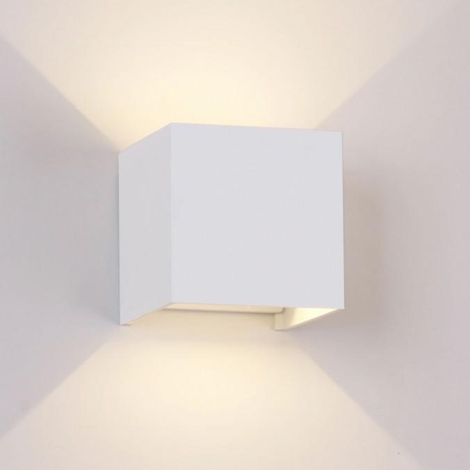 Aplique pared exterior LED serie Davos blanco