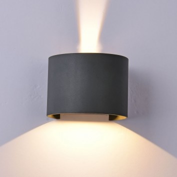 Aplique pared exterior LED serie Davos II gris