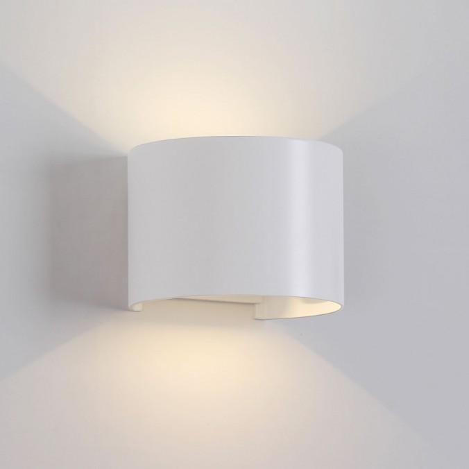 Aplique pared exterior LED serie Davos II blanco