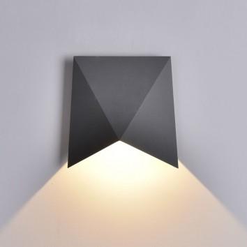 Aplique pared exterior LED serie Trias gris