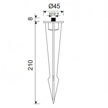 Accesorio Piqueta 21cm serie espiga