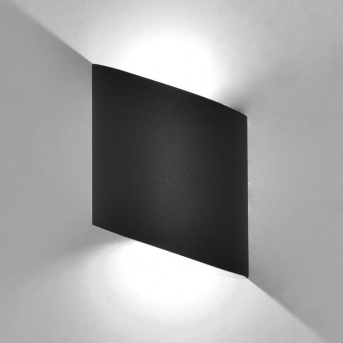 Aplique pared exterior LED serie Sochi gris
