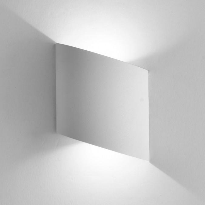 Aplique pared exterior LED serie Sochi blanco