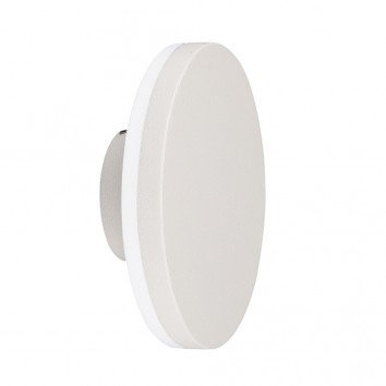 Aplique de exterior LED serie Bora redondo blanco
