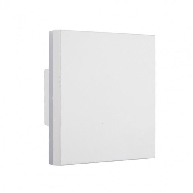 Aplique de exterior LED serie Bora cuadrado blanco